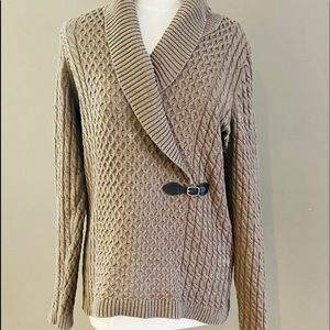 Calvin Klein Cable Knit Sweater Brown, Size L